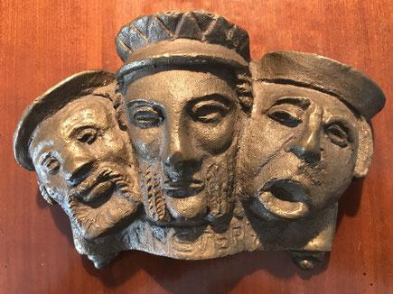 Bronzeplastik der Täufer, ca. 2 KG schwer