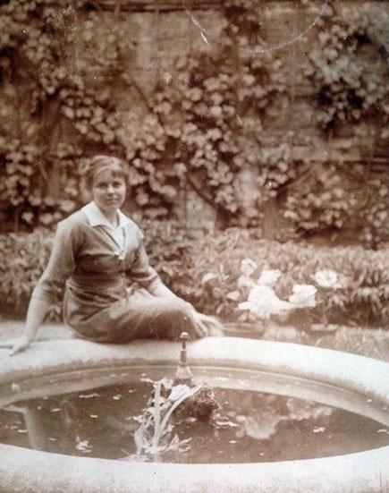 Berti am Springbrunnen