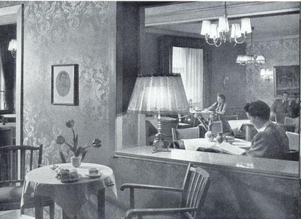 Cafeè Grotemeyer in den 1950er Jahren - Sammlung Stoffers (Münsterländische Bank Thie - Stadtarchiv)