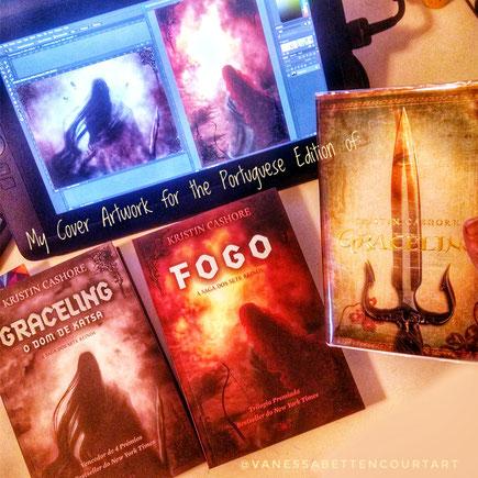 cover art, digital art, kristin cashore, graceling, fire, kristin cashore portuguese cover, cover artwork, fantasy novels, cover design graceling,