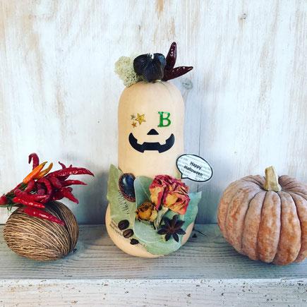 10月 〈長野 飯田〉親子ワークショップ『バターナッツかぼちゃのハロウィン飾り』