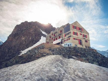Die Britannia Hütte auf 3.030m Höhe