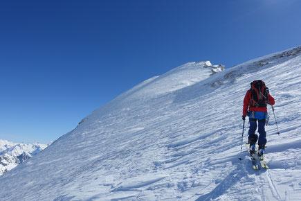 Skitour, Skihochtour, Turtmanntal, Brunegghorn, Turtmannhütte