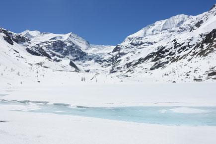 Skitour, Skihochtour, Turtmanntal, Brunegghorn, Turtmannhütte, Turtmannsee, Stausee, Sänntum