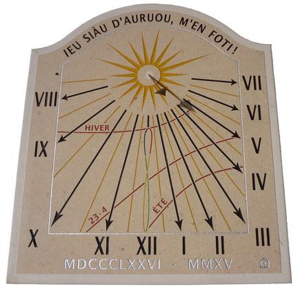cadran-solaire-auriol-13-pierre-cadrans-solaires-vente-achat