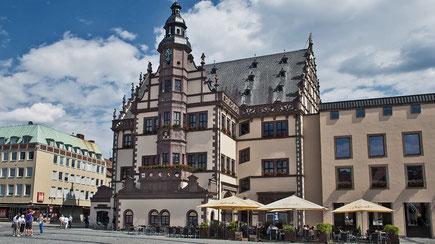 Die Innenstadt von Schweinfurt