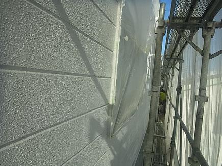 熊本市のリシン外壁を防カビ高耐久塗料で塗替えました。