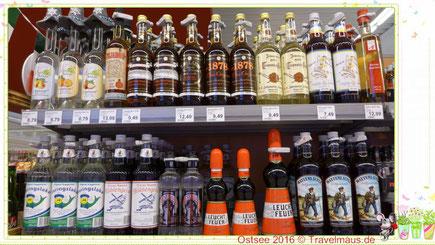 Besondere alkoholische Getränke: Leuchtfeuer, Wattenläufer, Heringslake, Friesengeist... u.v.m.