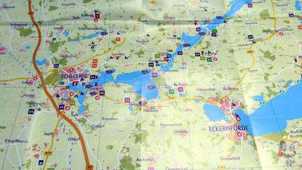 Rundtour: Eckernförde - Schleswig - Schleifähre Brodersby/ Missunde - Eckernförde