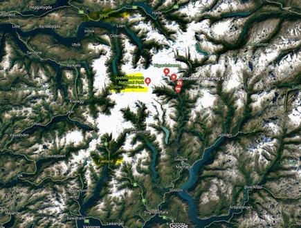Jostedalsbreen - Gletscher