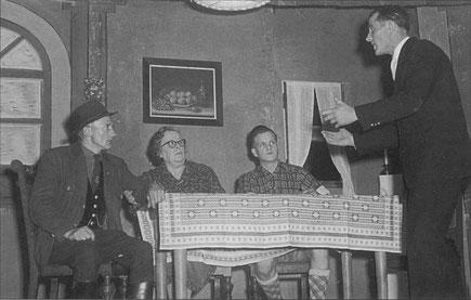 Theaterspiel  Weihnachten 1960 mit Albert Winkler, Gretel Günster, Otto Becher und Hans Dommermuth
