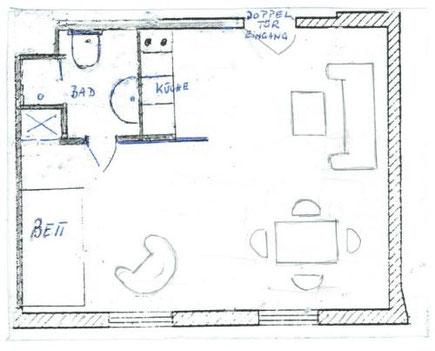 Grundriss der Ferienwohnung Bellevue
