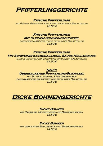 Pfifferlinge & Dicke Bohnen