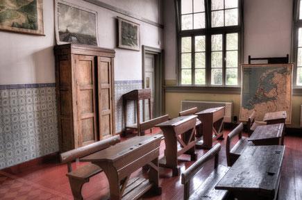 Altes Klassenzimmer aus Holz