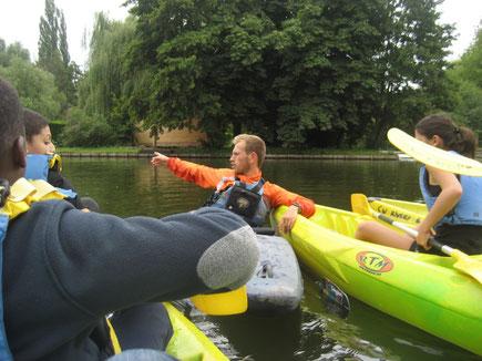 stage sport nautique kayak hortillonnages amiens rivery eau adolescents