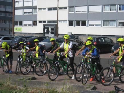 stage vélo securité routiére hortillonnages Buscyclette biscyclette chemin de halage