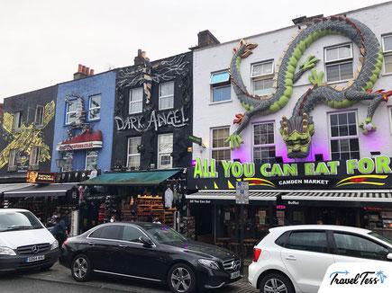 Bijzonder versierde gevels in Camden Town