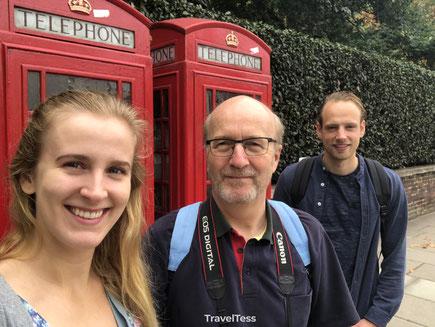 Oude telefooncellen Londen