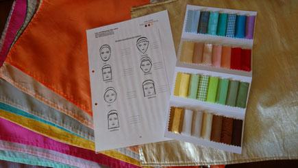 Tücherset, Analysetücher zur Farbberatung