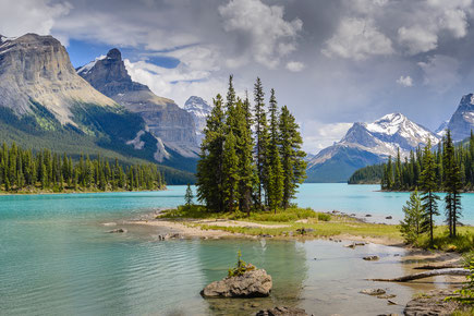 Spirit island im Maligne lake, Jasper Nationalpark