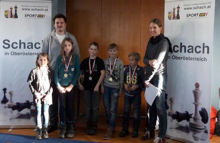 Siegerehrung bei der U10 mit dem neuen Landesmeister Maxi Stadlbauer