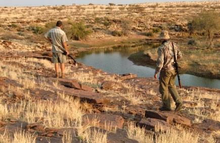 Die Jagd in dem offenen Gelände ist nicht immer einfach, doch es allemal ein Erlebnis in dieser atemberaubenden Landschaft zu jagen.