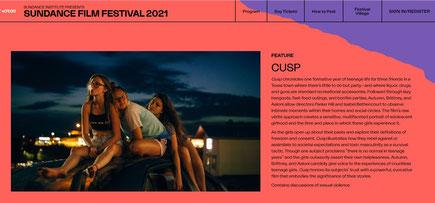 Cusp the film, Sundance 2021