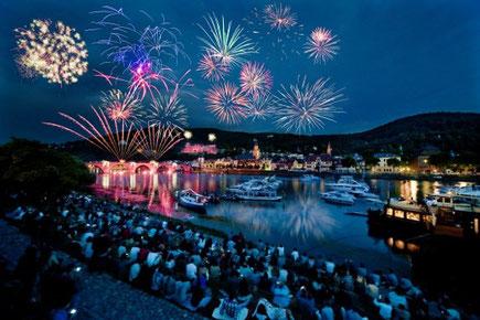 Schloßbeleuchtung in Heidelberg