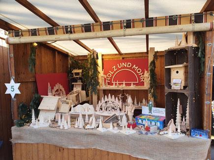 Stand auf dem Waldweihnachtsmarkt (Foto D. Mohr)