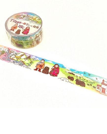 チベット柄マスキングテープ
