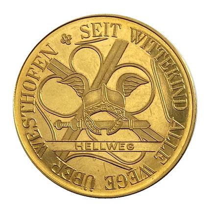 Goldmünze Schwerte