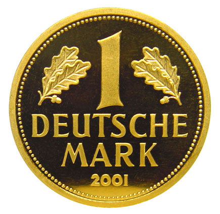 1 DM Goldmark aus 2001