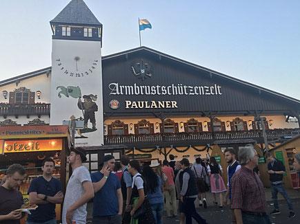 Paulaner Monaco di Baviera Germania Oktoberfest Festa della birra ottobre festa tradizionale