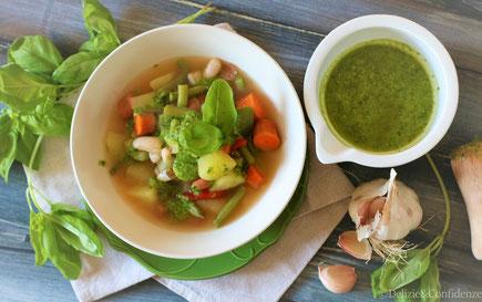 soupe au pistou zuppa al pesto healthy food provenza erbe provenzali francia verdure