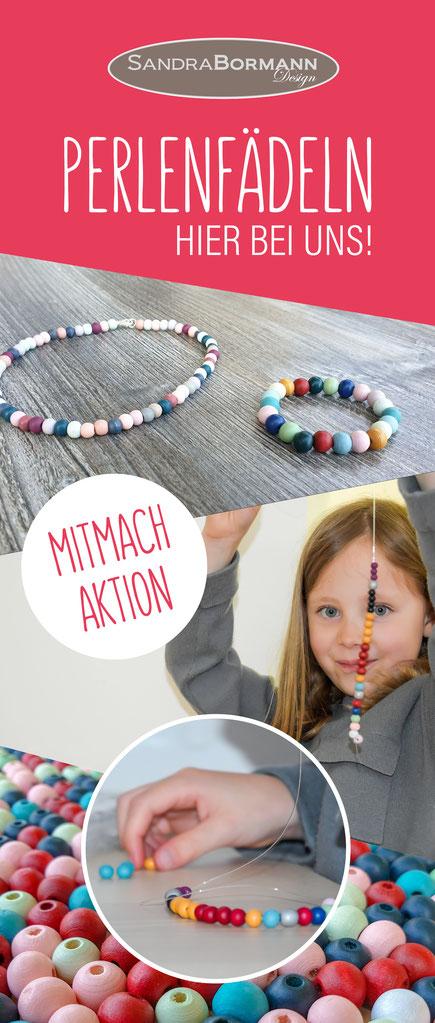 Perlenfädeln für Kinder mit vielen schönen bunten Perlen im Großraum Hannover