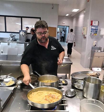 Bati Bordes cocinó varios guisos marineros para los cocineros noruegos
