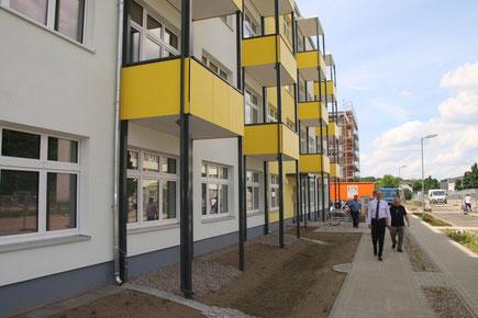 Neue Wohnungen auf dem Gelände der früheren Kaserne in Lehnitz.