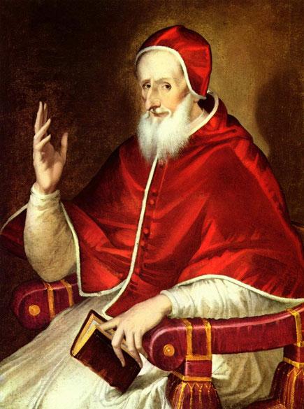 Porträt von Papst Pius V. von El Greco