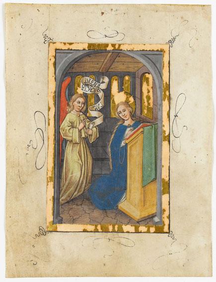 Die Verkündigung an Maria.