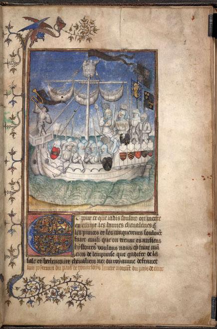 """Pierre Bontier und Jean le Verrier, Chronik """"Conquˆete et les Conquérants des Iles Canaries"""" (Die Eroberung und die Eroberer der Kanarischen Inseln), um 1405"""