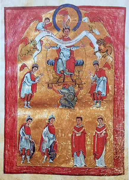 Widmungsbild Liuthar Evangeliar