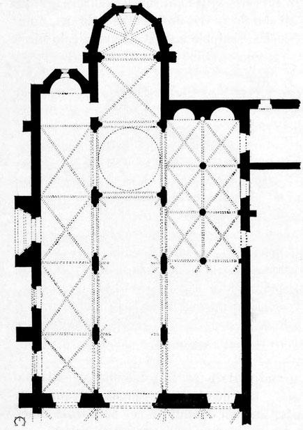 Nicosie - Agia Sophia : Plan de l'église Saint-Nicolas - Chypre