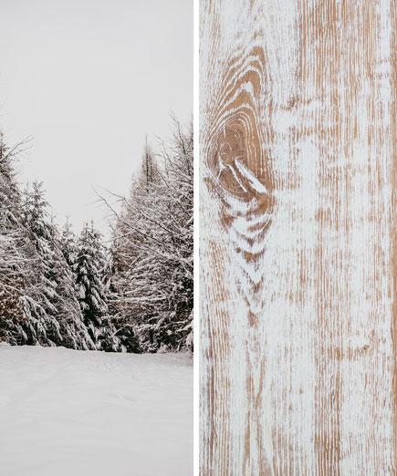 Collage mit Dielenboden: sweet home
