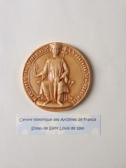 Sceau de Saint Louis de 1240