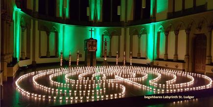 Begehbares Labyrinth St. Ludger