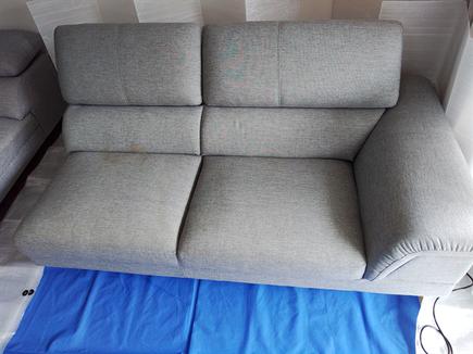 お子様の、おねしょのソファークリーニングに磯子区に行ってきました。