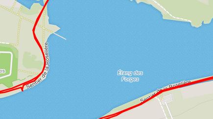 Der Halt am See (unten links) ist für einmal kein GPS Fehler, sondern eine gewollte und umungängliche Kühlpause ;)