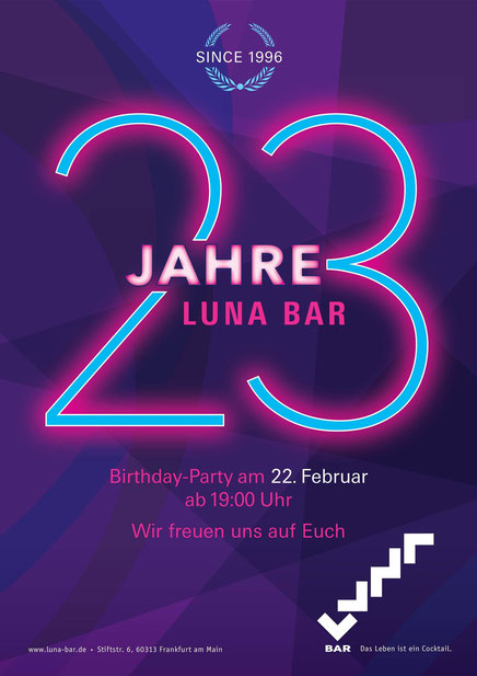 Birthday-Party 23 Jahre Luna Bar Frankfurt DJ Dino Frankfurt