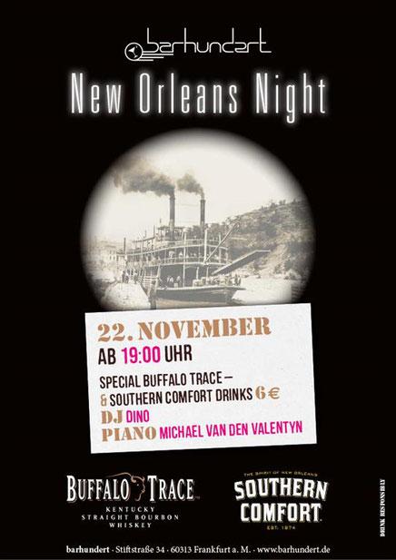 barhundert frankfurt New Orleans Night mit Dj Dino