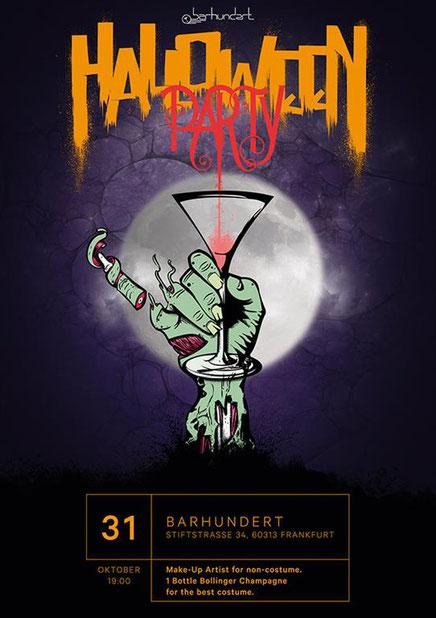 halloween party barhundert frankfurt